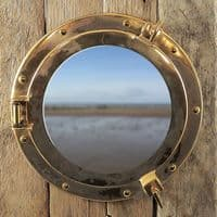 Driftwood Porthole Cabinet | Bathroom Cabinet | Nautical Decor